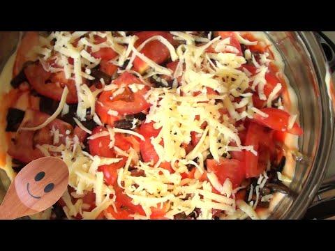 Быстрая Пицца на сковороде тесто на майонезе и сметане видео рецепт