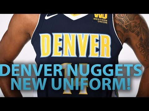 DENVER NUGGETS NEW UNIFORM | DIFFERENT JERSEY COLORS!