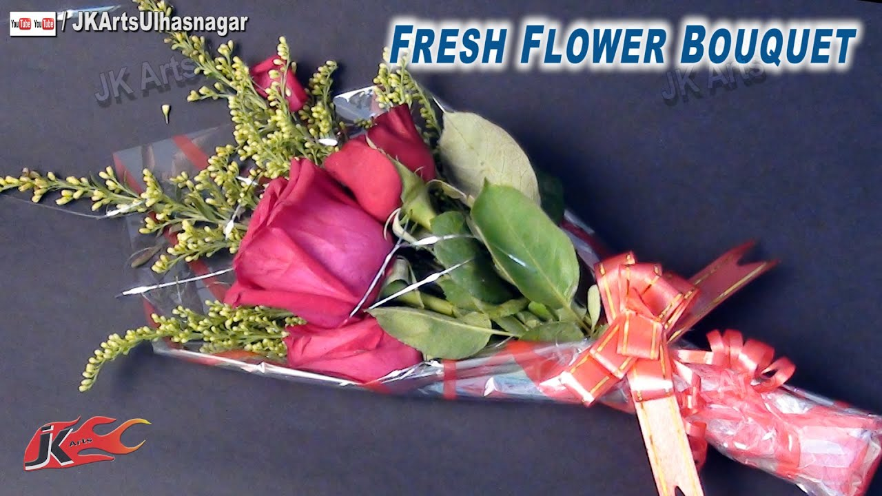Diy Fresh Flower Bouquet How To Make Gift Idea Jk Arts 664 Youtube