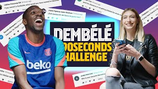 BARÇA LEGEND YOU MOST ADMIRE? | Ousmane Dembélé #90secondschallenge