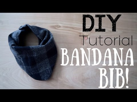 MAKE YOUR OWN BABY BIB BANDANAS! || DIY TUTORIAL