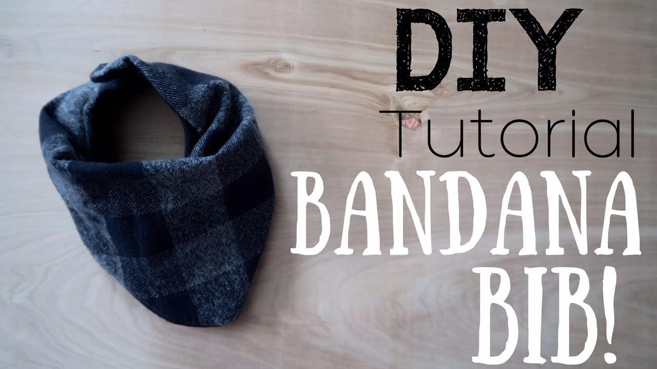 MAKE YOUR OWN BABY BIB BANDANAS! || DIY TUTORIAL - YouTube