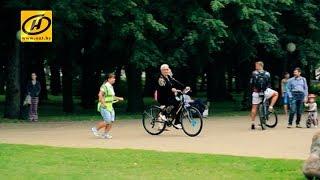Велошкола  здесь в Минске бесплатно учат ездить на велосипеде