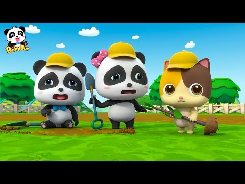 Baby Panda  Plant Trees in the Garden | Love Drinking Water | Kids Good Habits | BabyBus