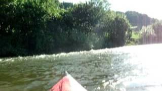 木津川(笠置~加茂)をカヤックで下ったときの川の流れの様子です。 水...