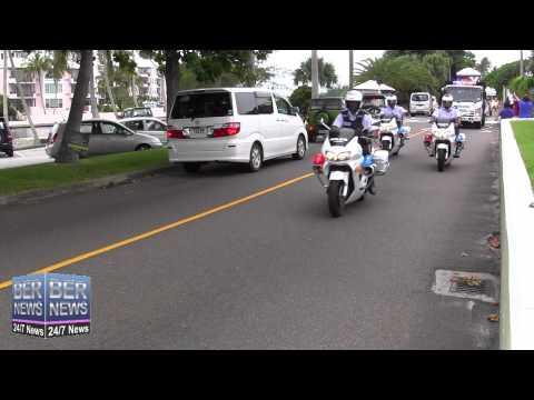 Bermuda Police Units Motorcade, October 1 2014