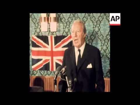 SYND 4-11-72 BRITISH PRIME MINISTER, EDWARD HEATH SPEECH