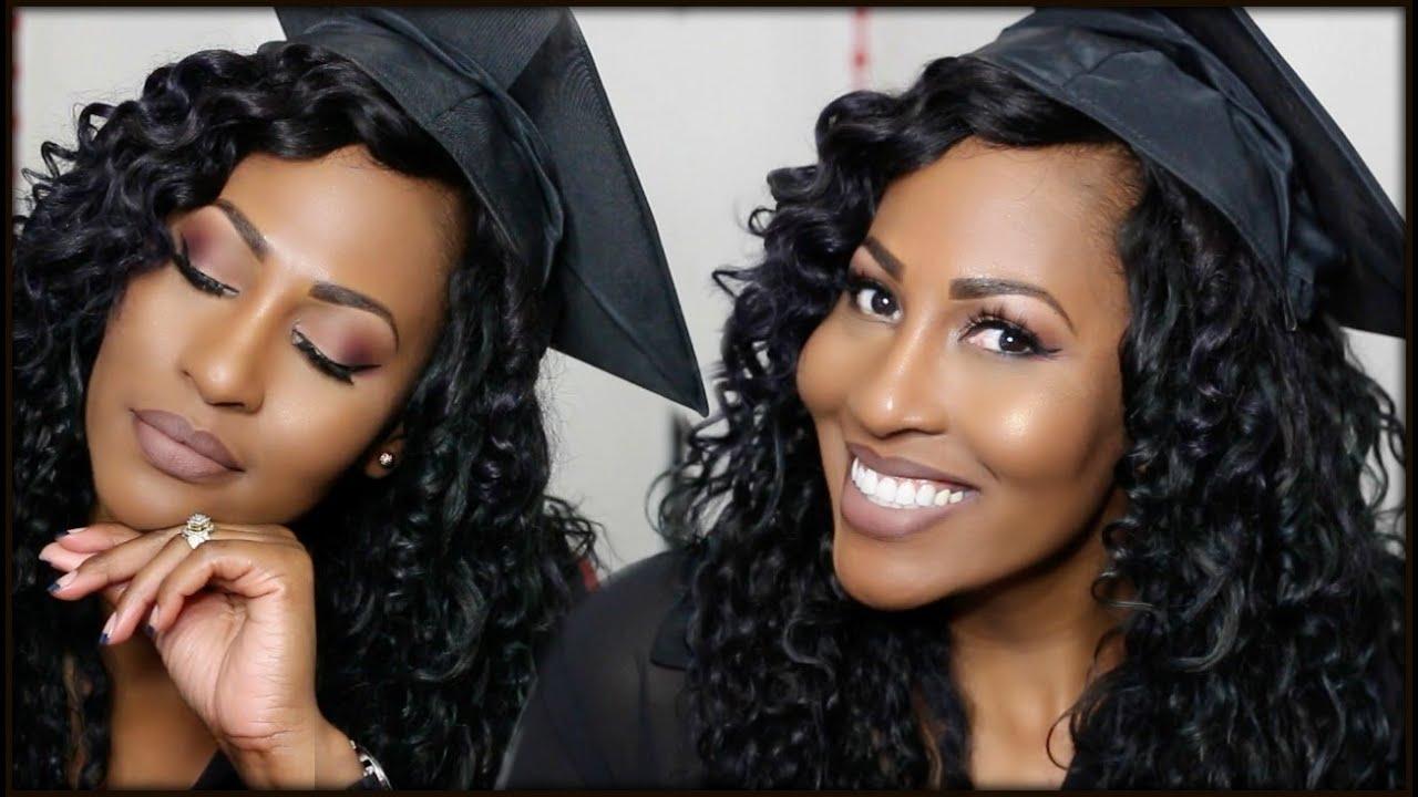 graduation makeup ft. ofra foundation