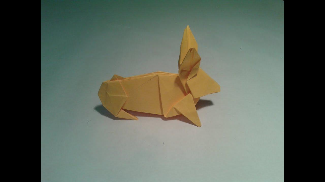 plegado de papel conejo