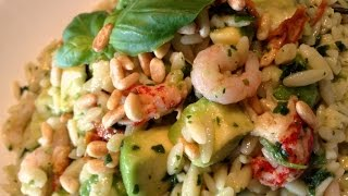 Seafood Orzo With Sun-dried Tomato & Avocado [pasta Salad]