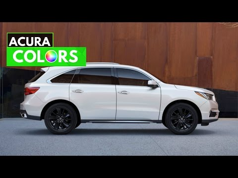 2017 Acura MDX Paint Colors & Interior Trim