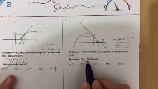 345 AYT Matematik TÜREV-2 Test-2 Anlatımlı Çözümleri (2018-2019 basım)