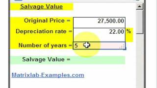 Salvage Value Calculation