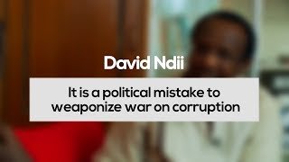 David Ndii: It is a Political Mistake to Weaponize the War on Corruption