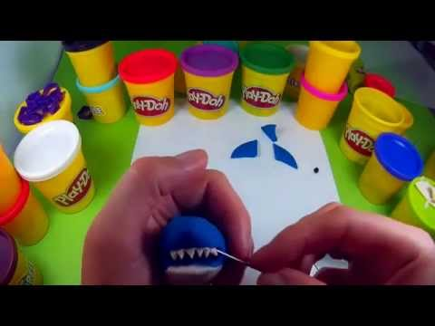 Play Doh activities for kids HD. How to make shark