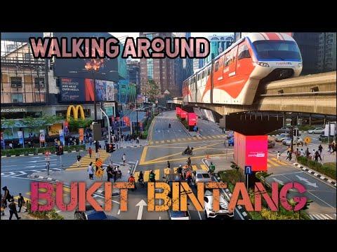 4K Walk Around Bukit Bintang Kuala Lumpur Malaysia 2021