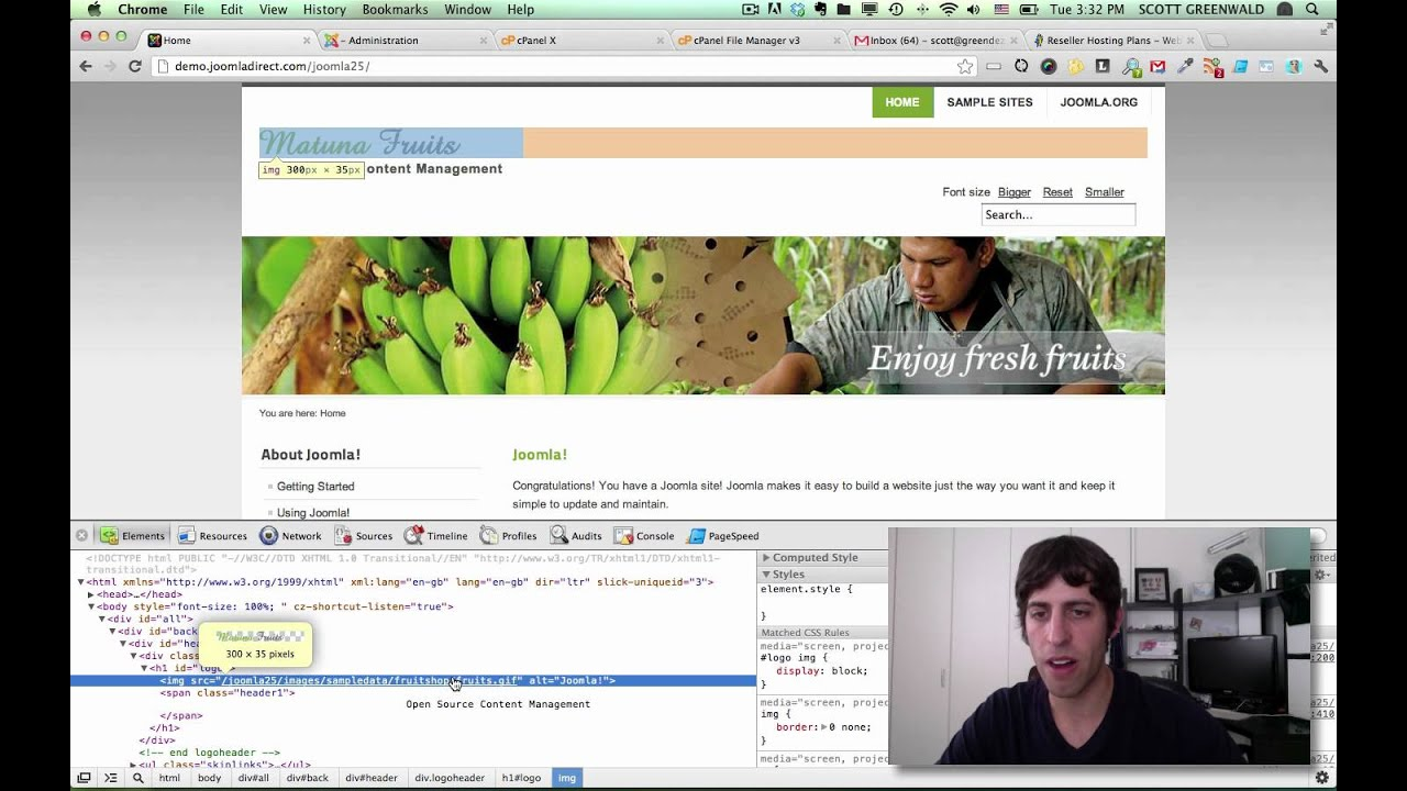how to upload a template in joomla - how to change the logo on your joomla template youtube