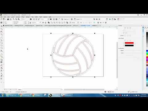 Corel Draw Tips & Tricks Volleyball make line thicker