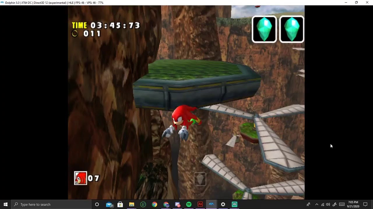 Playing Sonic Adventure DX while answering questions