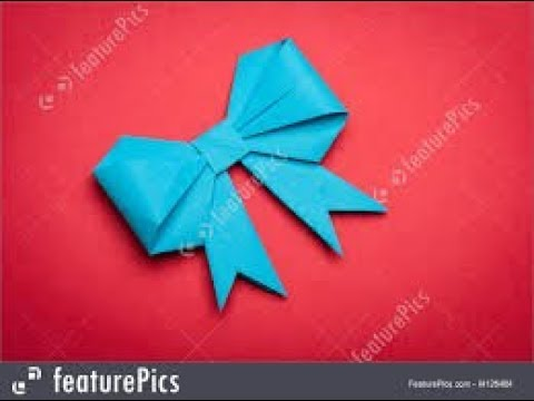 paper art bow for gift box