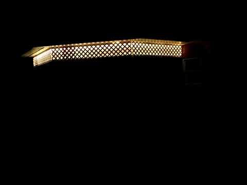 Solar-Powered Exterior RGB LED Lighting