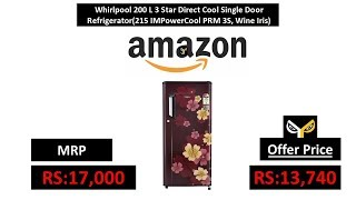 Whirlpool 200 L 3 Star Direct Cool Single Door Refrigerator(215 IMPowerCool PRM 3S, Wine Iris)