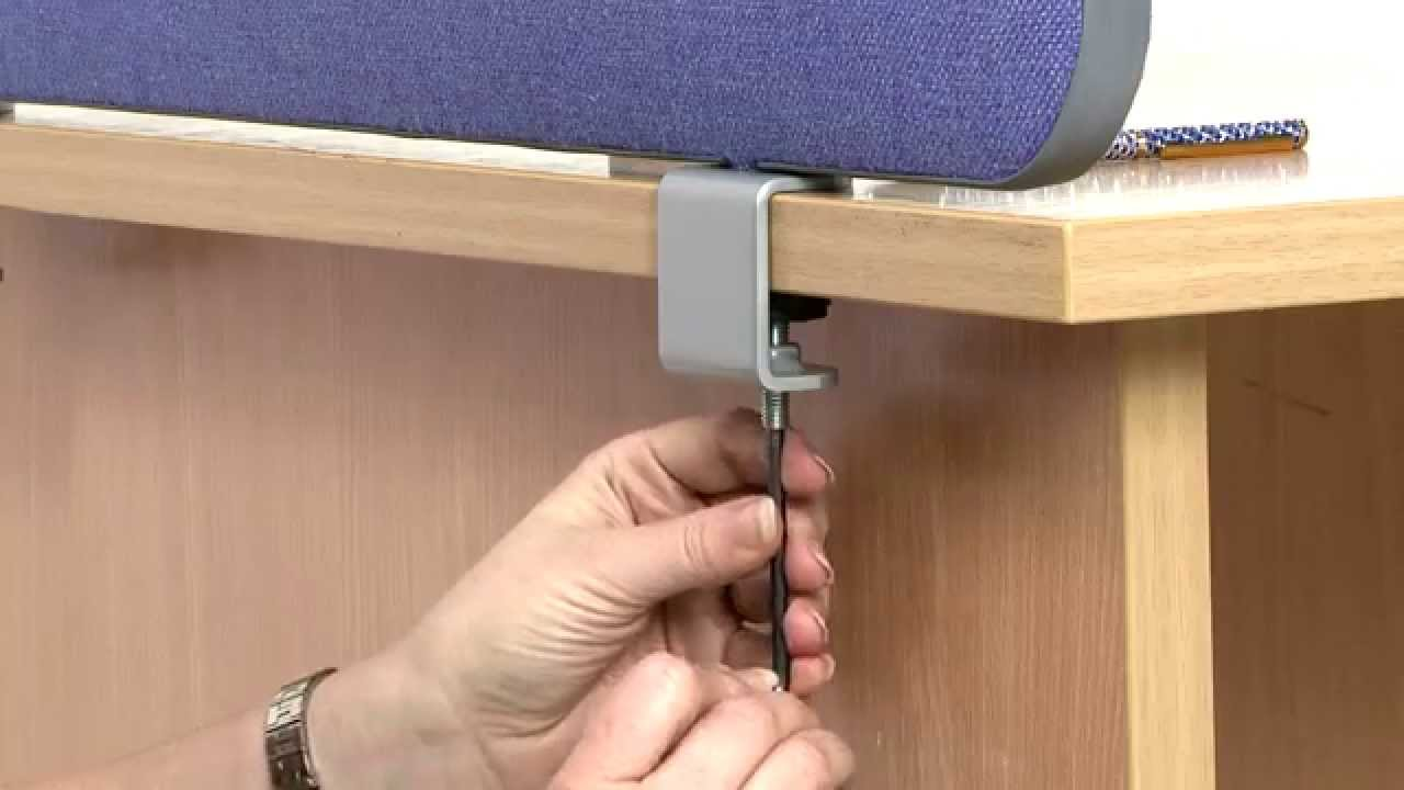 Charmant How To Fit Desk Office Screens With Clamps   YouTube