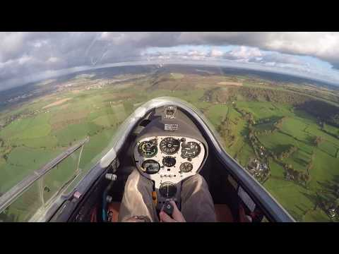 Third glider training flight, co-ordinated turns, trim & demonstration of circuit