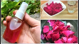 How to make ROSE WATER at HOME | DIY Rose Water For Skin and Hair Care