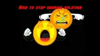 [How To Stop Snore At Night] - How To Stop Snoring Solution