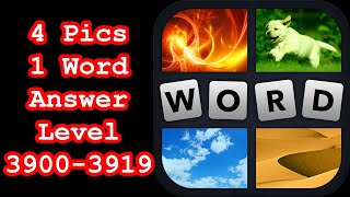 4 Pics 1 Word - Level 3900-3919 - Find 5 words beginning with A! - Answers Walkthrough