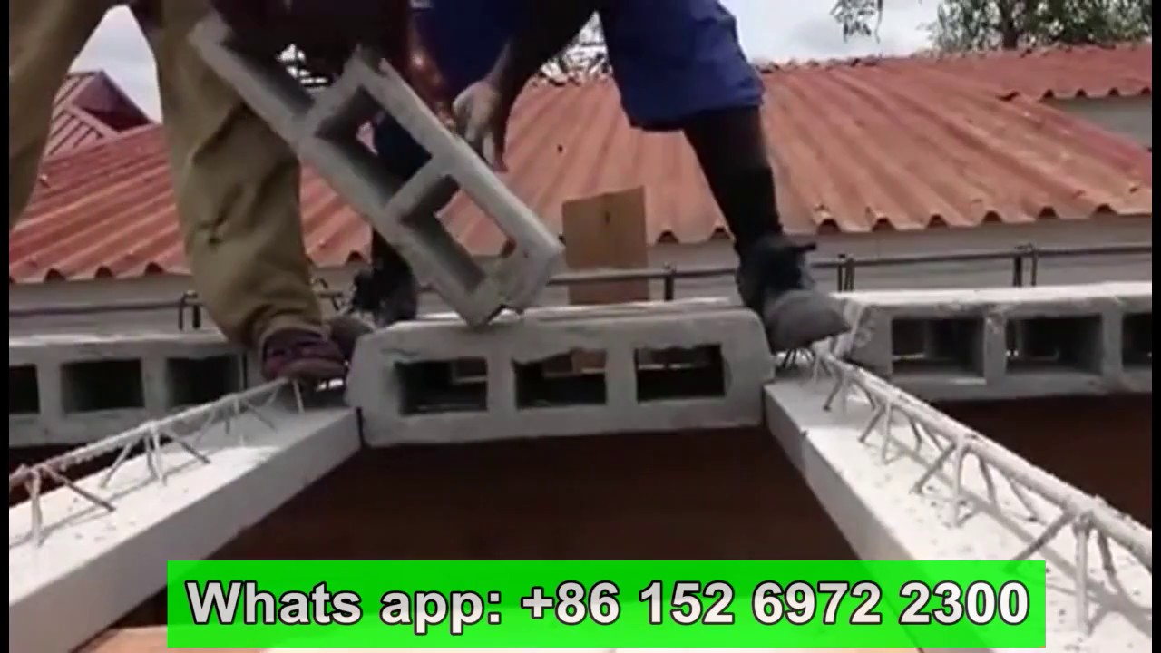 Teach How To Build House Roof By Houdi Hollow Pot Slab