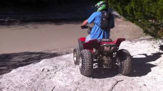 ATV Creek Ride with Nick - Yamaha Warrior 350 - Honda TRX 450R