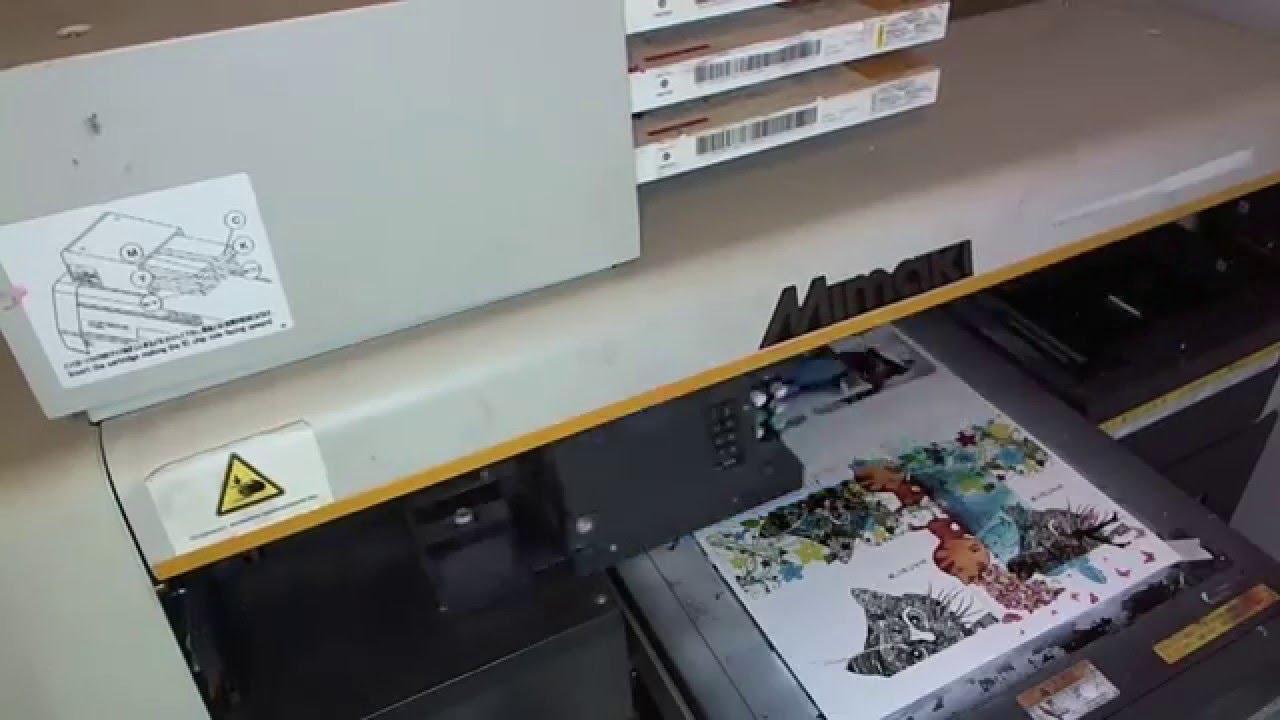 Печать уф чернилами с помощью праймера на стекле или керамике