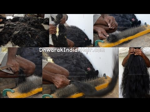 Human Hair Wholesale Factory In Chennai India | Raw Temple Hair To Extensions