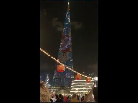 AMAZING DUBAI! IDOL RAFFY LIVE SA BURJ FOUNTAIN SHOW SA DUBAI KASAMA ANG MGA KABABAYAN NATIN!