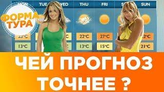 Чей прогноз погоды точнее? Информеры