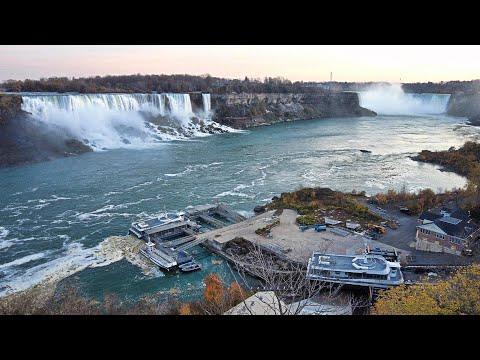 Niagara Falls Canada Clifton Hill & Falls Walk on November 6, 2020
