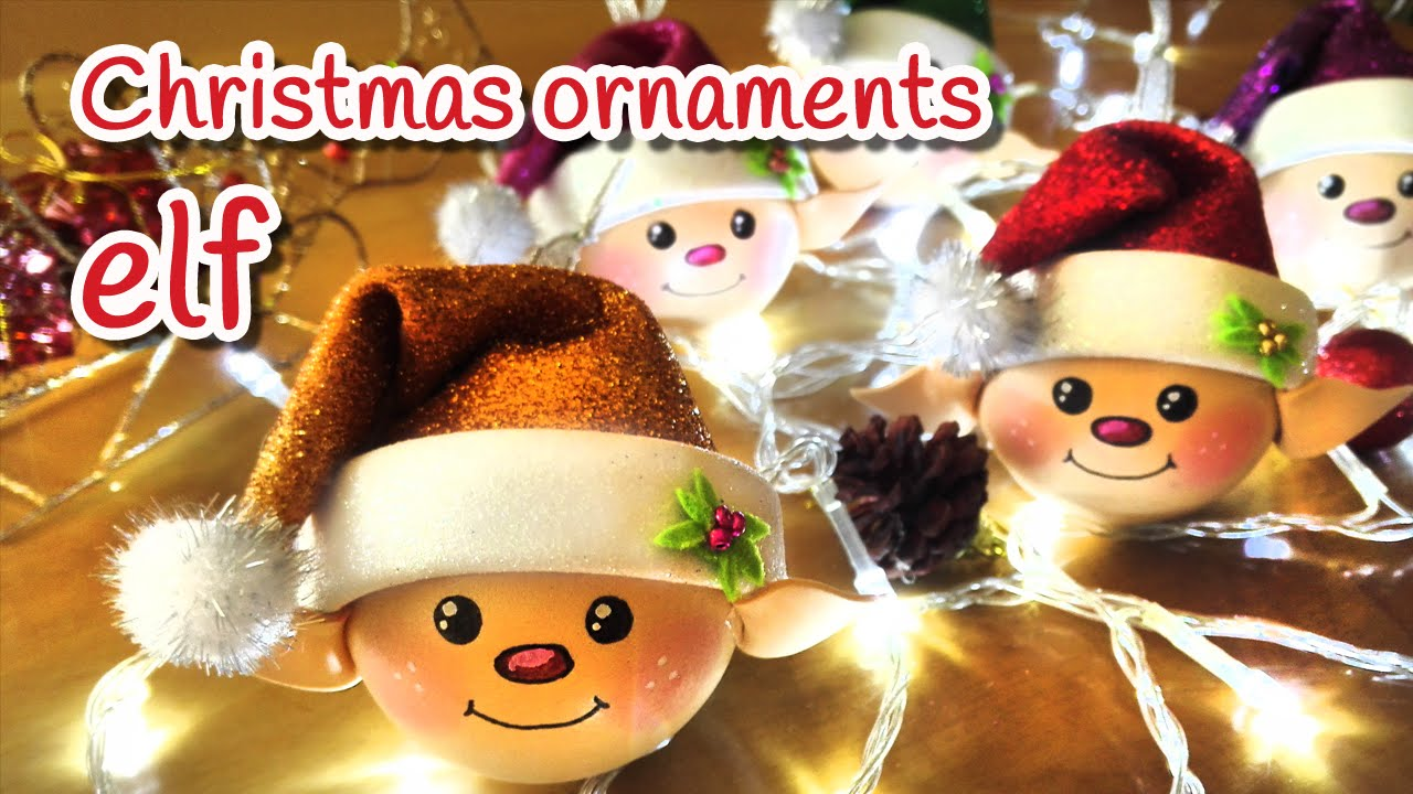 Diy christmas crafts elf christmas ornaments innova for Adornos navidenos en 5 minutos