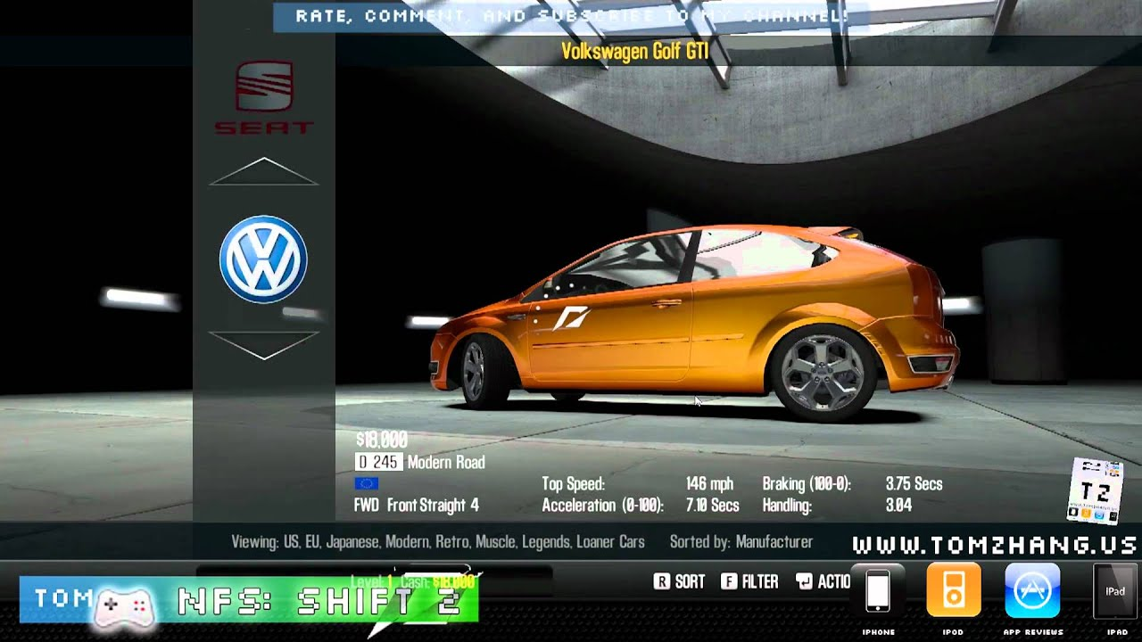 Need for speed shift 2 unleashed official gameplay for pc mac xbox 360 ps3 highest settings hd youtube