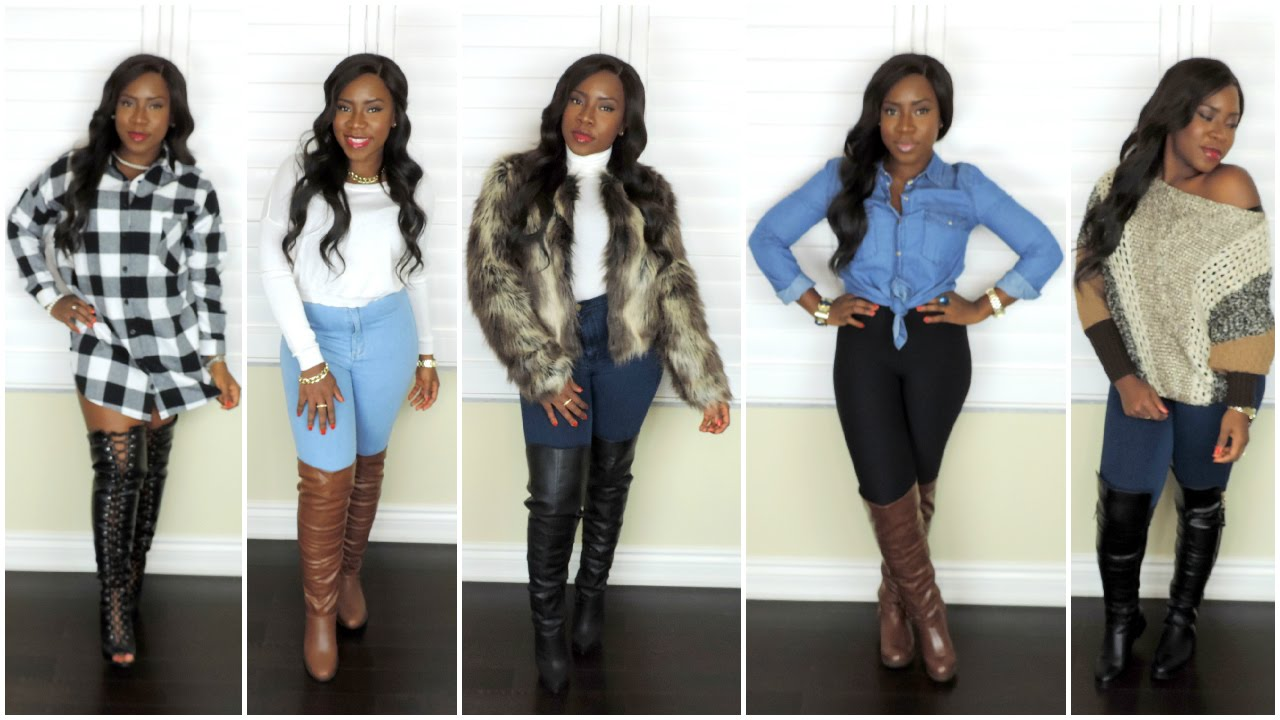 winter lookbook 2015 how to style thigh high boots