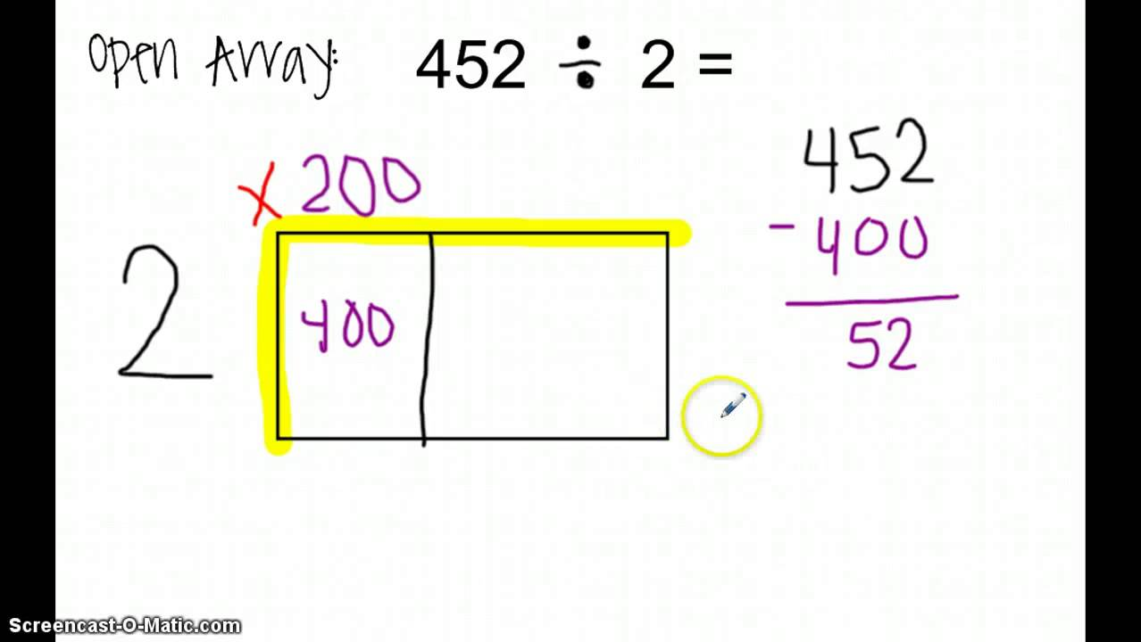 math worksheet : division with an open array  youtube : Division Array Worksheets