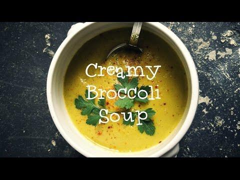 Creamy Broccoli Soup, vegan. low fat