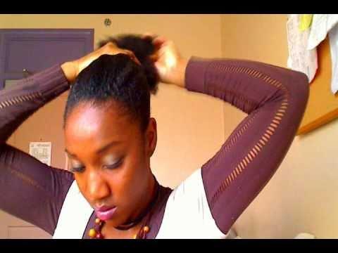 4b natural hair style