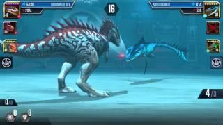 Jurassic World: Das Spiel #68 Lustiger Glitch, Indominus vs. Mosasaurus!! xD [60FPS/HD] | Marcel