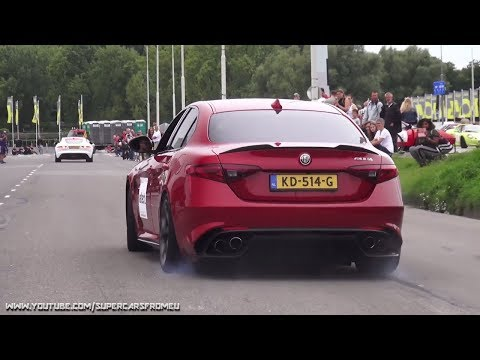 MOST ENTHUSIASTIC WOMAN EVER WHEN SUPERCARS LEAVING CHARITY EVENT!