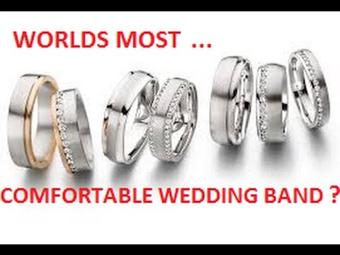 Worlds Most Comfortable Wedding Band Ring Comfort Gold Silver