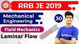 11:00 PM - RRB JE 2019 | Mechanical Engg by Neeraj Sir | Laminar flow