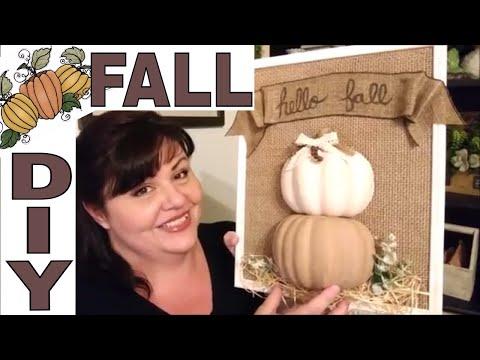$3 FALL Farmhouse Dollar Tree DIY