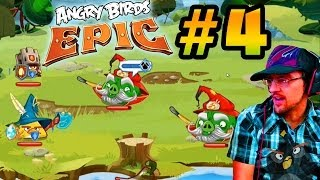 Lets Play Angry Birds EPIC PART 4: Pyro Pig Battle + New Hats & Chuck Orb Upgrade (iOS Face Cam)